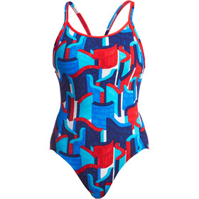 Funkita Diamond Back One Piece Swimsuit Women block rock